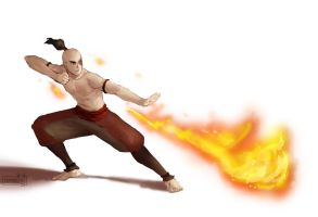Zuko training by Sophingers