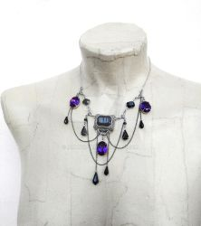Purple Vampire Necklace by Aranwen