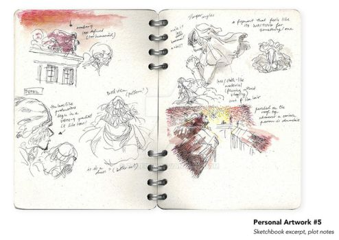 Sheridan Animation Portfolio Sketchbook Excerpt #1 by taleism