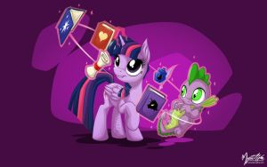 Twilight Sparkle and Spike 2 by mysticalpha