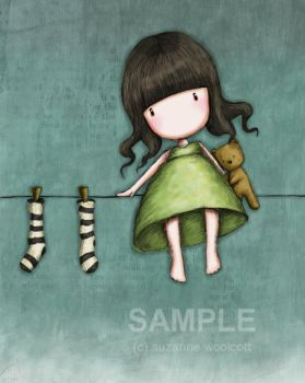 Hang Me Up To Dry - gorjuss by childrensillustrator