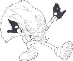 SONIC: DESERT RUN OUTLINE by gwencarson