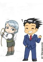 Mini Phoenix and Franziska by Pachaluche