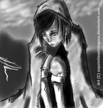 Shroud of the Exile- Main Character (sketch) by XxPointlessThingsxX