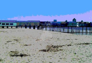 Posterized Old Orchard Beach by TreasuredMemoriesNH