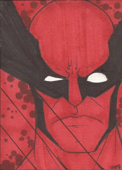 Wolverine Sketch Card by Ross-A