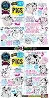 How to draw PIGS tutorial by STUDIOBLINKTWICE