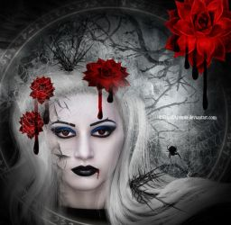 Bloody Flower by PlacidAnemia