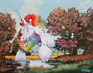 Behold the Majesty of the Juvenile Squatchicorn... by CHR15T0PH3L35