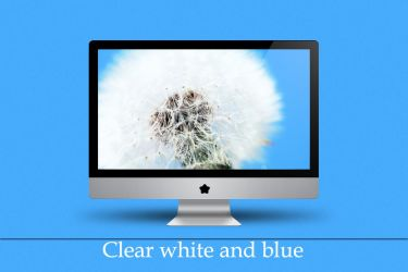 Clear white and blue by Zim2687