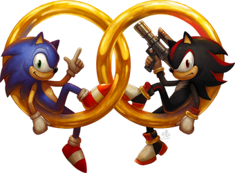 Sonic and Shadow by Ry-Spirit