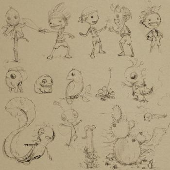 Holiday Sketches 001 by AndrewMcIntoshArt