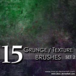 Grunge and Texture Brushes 2 by AiSac