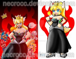 Poster: Bowsette by NecroCC