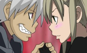 Maka x Soul by Moonlight-Hour