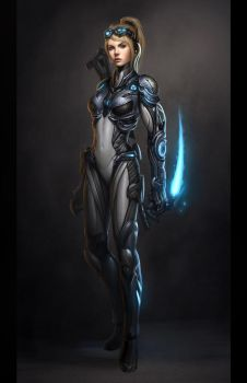 Starcraft Ghost Nova Final by Zeronis