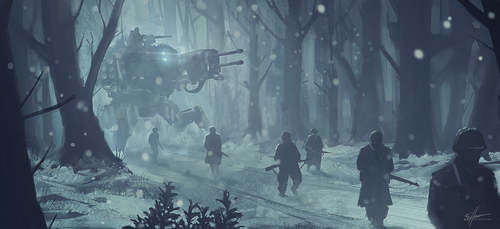 Patrolling In The Cold by Shue13