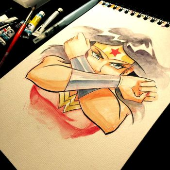 - Wonder Woman - Watercolors by sergio-quijada