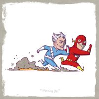 Little Friends - Flash and Quicksilver by darrenrawlings