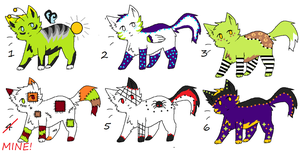 Cat Adoptables 5 *Open* by LuxaAdoptables