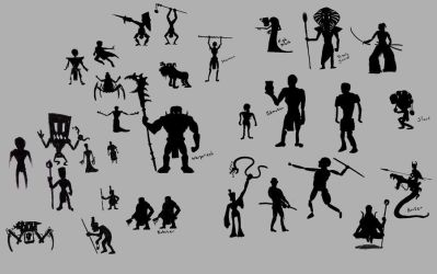 Silhouettes 01 by Sabotender