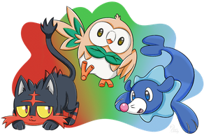 New Challengers Sun and Moon by SwanLullaby