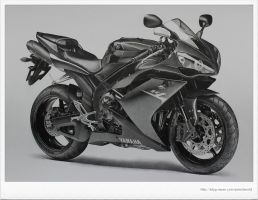 YAMAHA YZF - R1 Drawing by sharppower