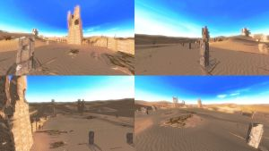 DOA5 Stage Desert Wasteland by rolance