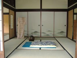 Japanese House: Bed Room by gamefan23
