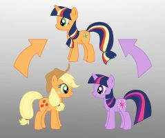 Pony Fusion: Apple Jack And Twilight by Willemijn1991