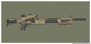 Wasteland Arms Cassian Sniper Rifle by Direrain