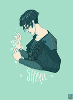 Sabriel - Character Portrait by FionaCreates