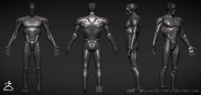 ZBrush concept (Tall Man) 2 hours by WilliamDettrey