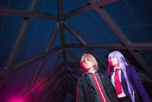 Naegi and Kirigiri - Dangan ronpa I by cloeth