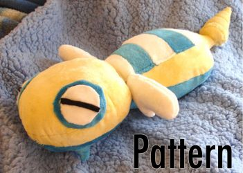 Dunsparce Free Plush Pattern by dollphinwing