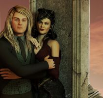 Lucius and Narcissa Portrait by deslea