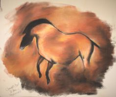 Horse Cave Painting by Sequana