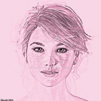 Cathy Portait Drawing Effect by Edheldil3D