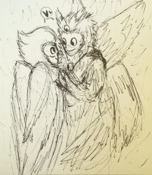 Pigeowl by sharkdivus