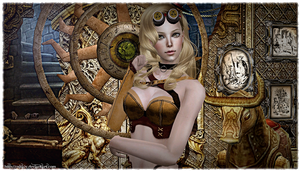 Steampunk girl by CSItaly