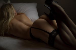 On bed by wphotography