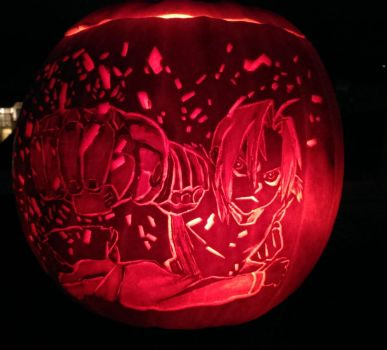 Edward Elric - Pumpkin Carving 2017 by stormhelen