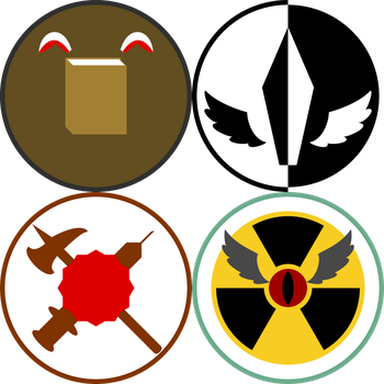 DNC's Character Icons Set 2: The Squad by DoctorNubCake