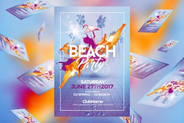 Summer Beach Party | Psd Flyer Template by RomeCreation