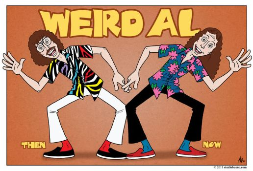 Weird Al: Then and Now by StudioBueno