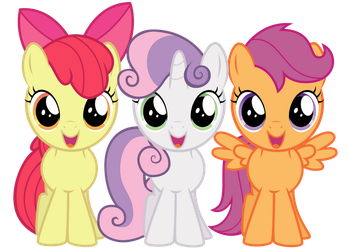 Excited Cutie Mark Crusaders by thatguy1945