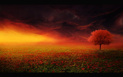 The red tree by Ellysiumn