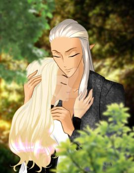 Timariel and Thranduil by Lady-Timariel
