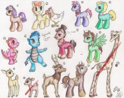 MLP FiM: Different Species- Point Adopts by LWCadoptables