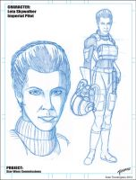 Leia Skywalker Imperial Pilot Pencils by stourangeau